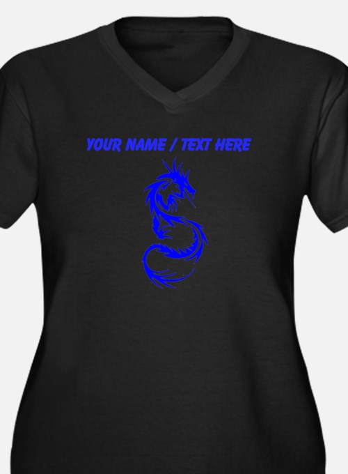 Custom Blue Dragon Tattoo Plus Size T-Shirt