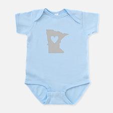 Heart Minnesota Infant Bodysuit