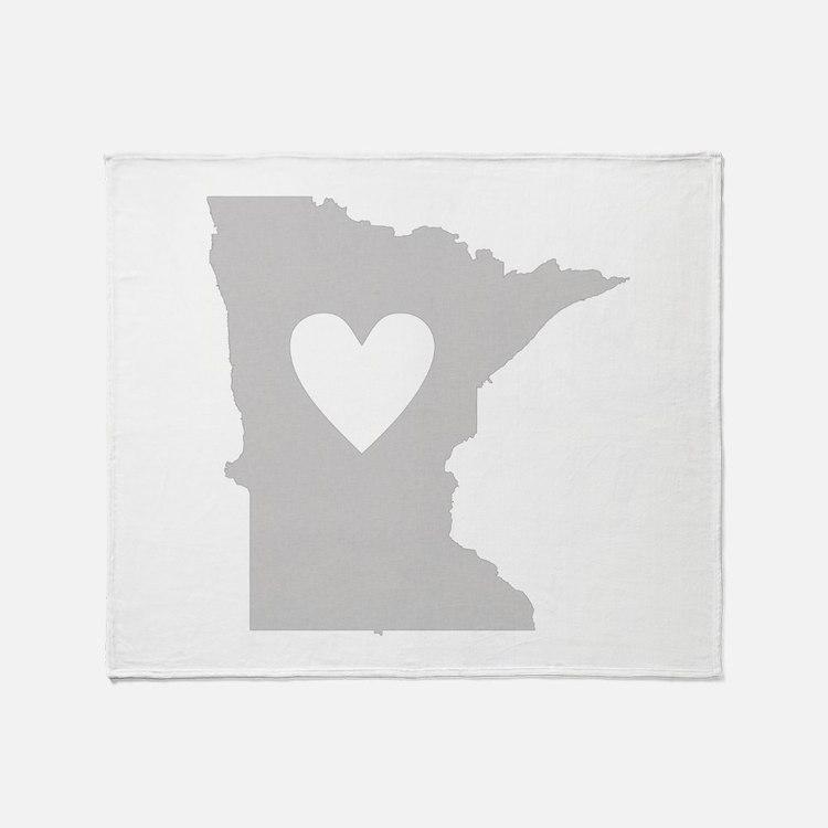Heart Minnesota Throw Blanket