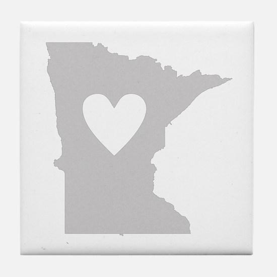 Heart Minnesota Tile Coaster