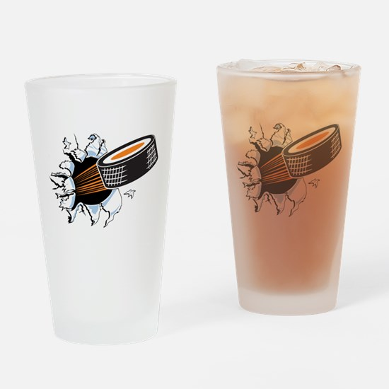 Hockey Drinking Glass