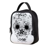 Skull flowers Neoprene Lunch Bag