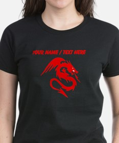 Custom Red Dragon Serpent With Wings T-Shirt
