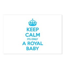 Keep calm its only a royal baby Postcards (Package