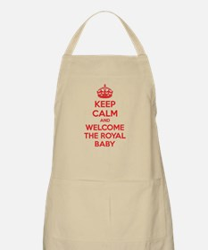 Keep calm and welcome the royal baby Apron