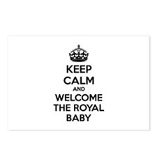 Keep calm and welcome the royal baby Postcards (Pa