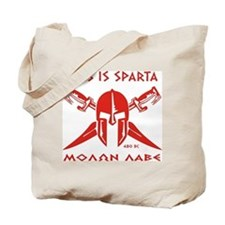 This is Sparta (Red) Tote Bag