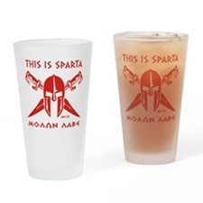 This is Sparta (Red) Drinking Glass