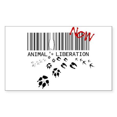 animal liberation...NOW Rectangle Sticker