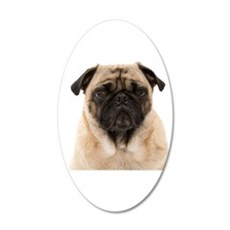 The Pug 35x21 Oval Wall Decal