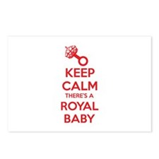 Keep calm there's a royal baby Postcards (Package