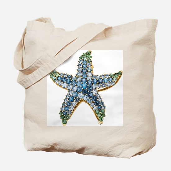 Starfish Vintage Rhinestone Costume Jewelry Tote B