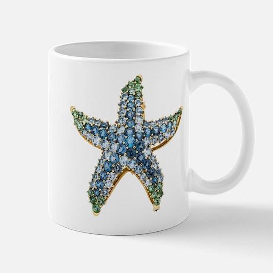 Starfish Vintage Rhinestone Costume Jewelry Mug