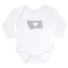 Heart Montana Long Sleeve Infant Bodysuit