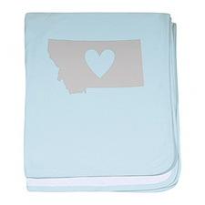 Heart Montana baby blanket