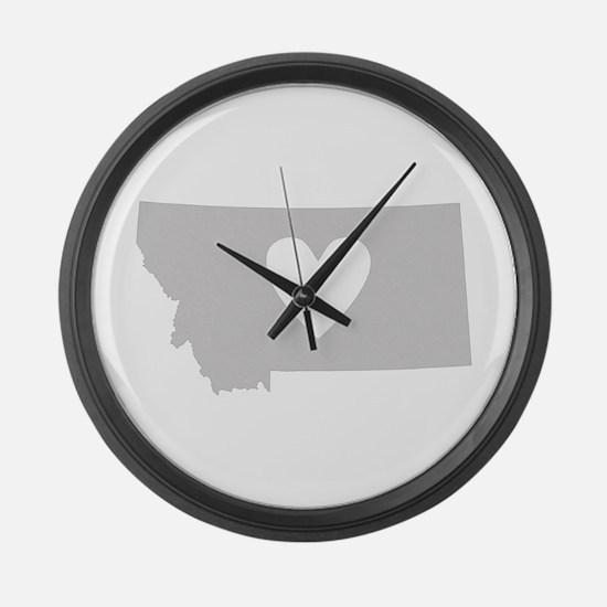 Heart Montana Large Wall Clock
