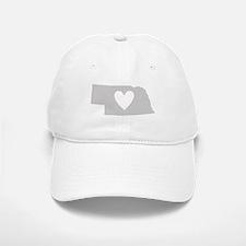 Heart Nebraska Baseball Baseball Cap