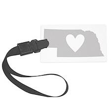 Heart Nebraska Luggage Tag