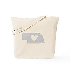 Heart Nebraska Tote Bag