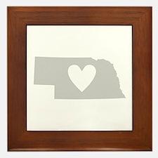 Heart Nebraska Framed Tile