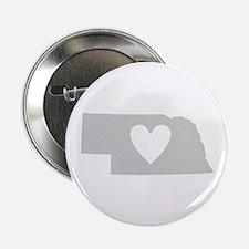"""Heart Nebraska 2.25"""" Button"""