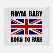 Royal Baby Rule Throw Blanket