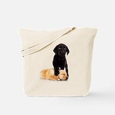 Labrador Playmates Tote Bag