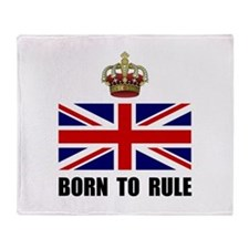 Royal Crown Rule Throw Blanket