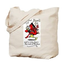 Vintage Jester Fool April Fools Day April 1st Tote