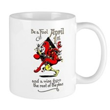 Vintage Jester Fool April Fools Day April 1st Mug