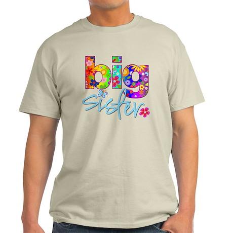 2-big sister flower back T-Shirt