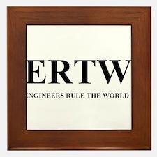 ERTW - ENGINEERS RULE THE WORLD Framed Tile