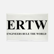 ERTW - ENGINEERS RULE THE WORLD Rectangle Magnet