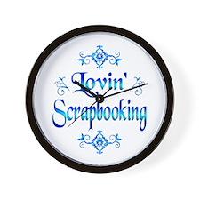 Lovin Scrapbooking Wall Clock