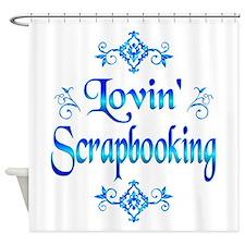 Lovin Scrapbooking Shower Curtain