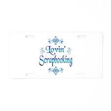 Lovin Scrapbooking Aluminum License Plate