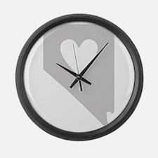 Heart Nevada Large Wall Clock