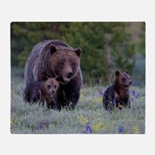 MAMMA GRIZZLY and CUBS Throw Blanket