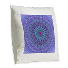 Purple Inspire mandala kaleidoscope Burlap Throw P