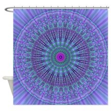 Purple Inspire mandala kaleidoscope Shower Curtain