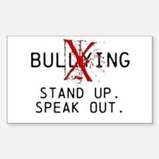 No Bullying - Stand up. Speak out. Decal