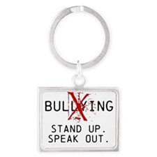 No Bullying - Stand up. Speak out. Keychains