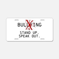 No Bullying - Stand up. Speak out. Aluminum Licens
