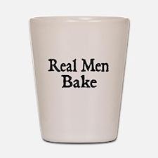 REAL MEN BAKE Shot Glass