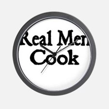 REAL MEN COOK Wall Clock