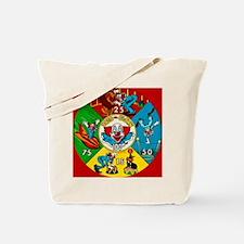 Vintage Toy Clown Cartoon Target Game Tote Bag