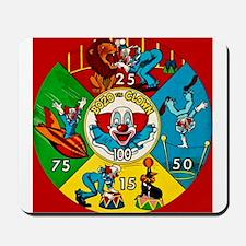 Vintage Toy Clown Cartoon Target Game Mousepad
