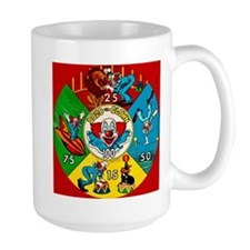 Vintage Toy Clown Cartoon Target Game Mug