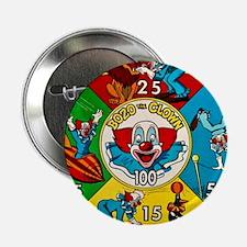 "Vintage Toy Clown Cartoon Target Game 2.25"" Button"