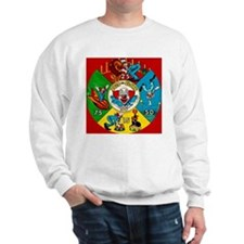 Vintage Toy Clown Cartoon Target Game Sweatshirt